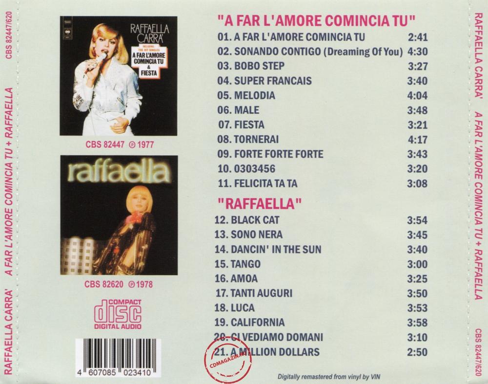 Audio CD: Raffaella Carra (1977) A Far L'Amore Comincia Tu + Raffaella