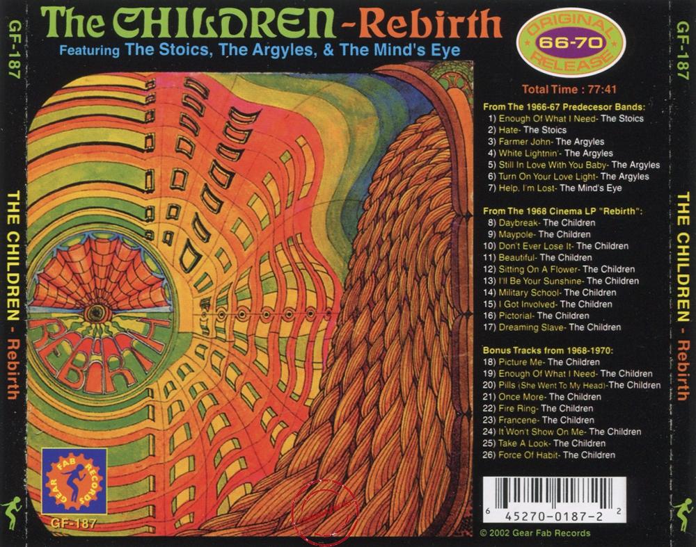 Audio CD: Children (4) (1968) Rebirth