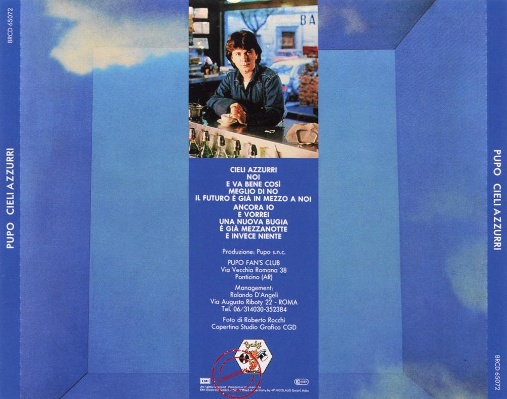 Audio CD: Pupo (1983) Cieli Azzurri