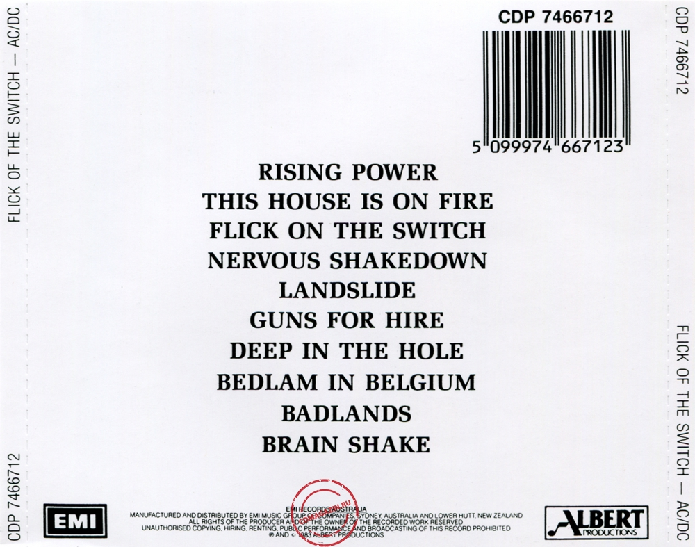 Audio CD: AC/DC (1983) Flick Of The Switch