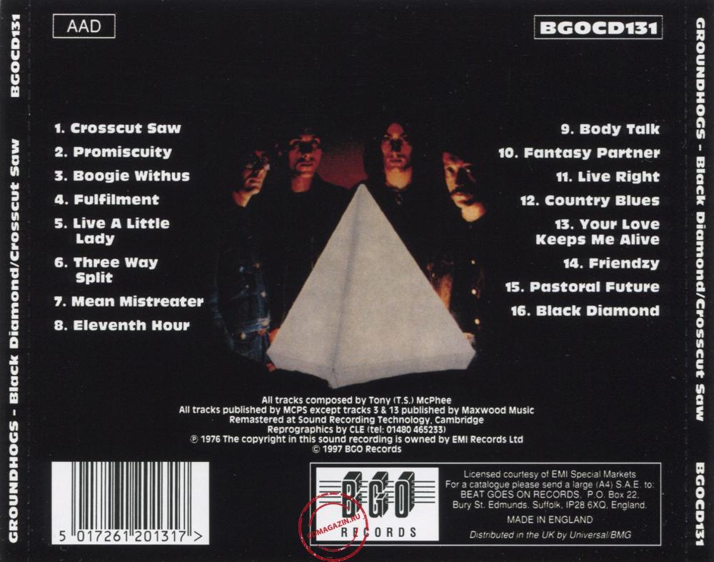 Audio CD: Groundhogs (1976) Crosscut Saw / Black Diamond