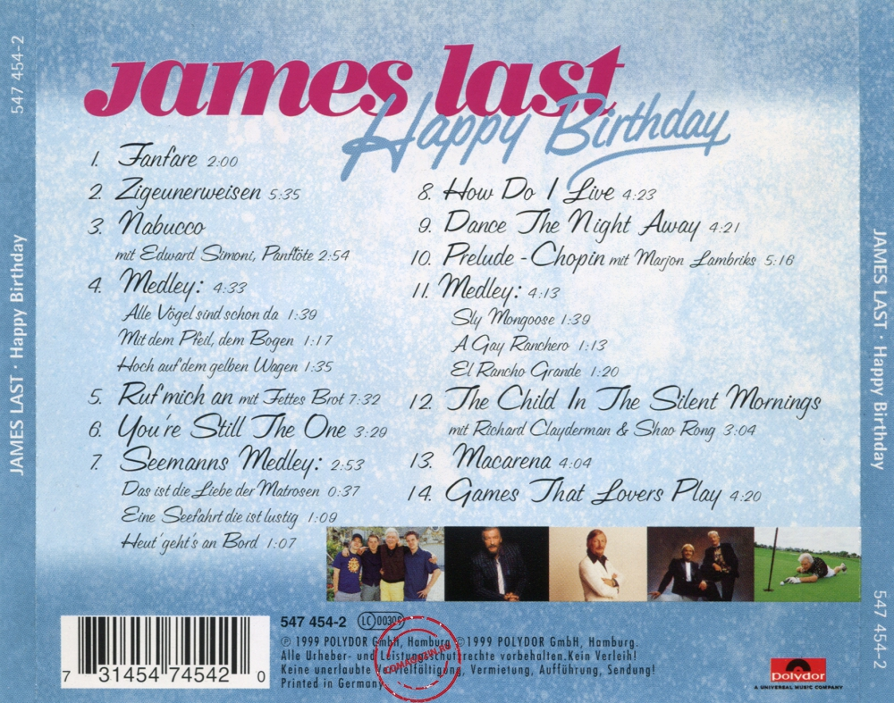 Audio CD: James Last (1999) Happy Birthday