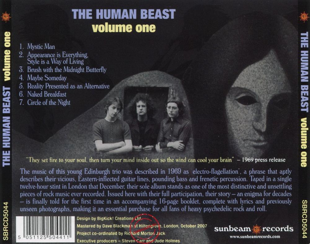 Audio CD: Human Beast (1970) Volume One