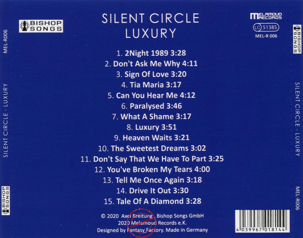 Audio CD: Silent Circle (2020) Luxury