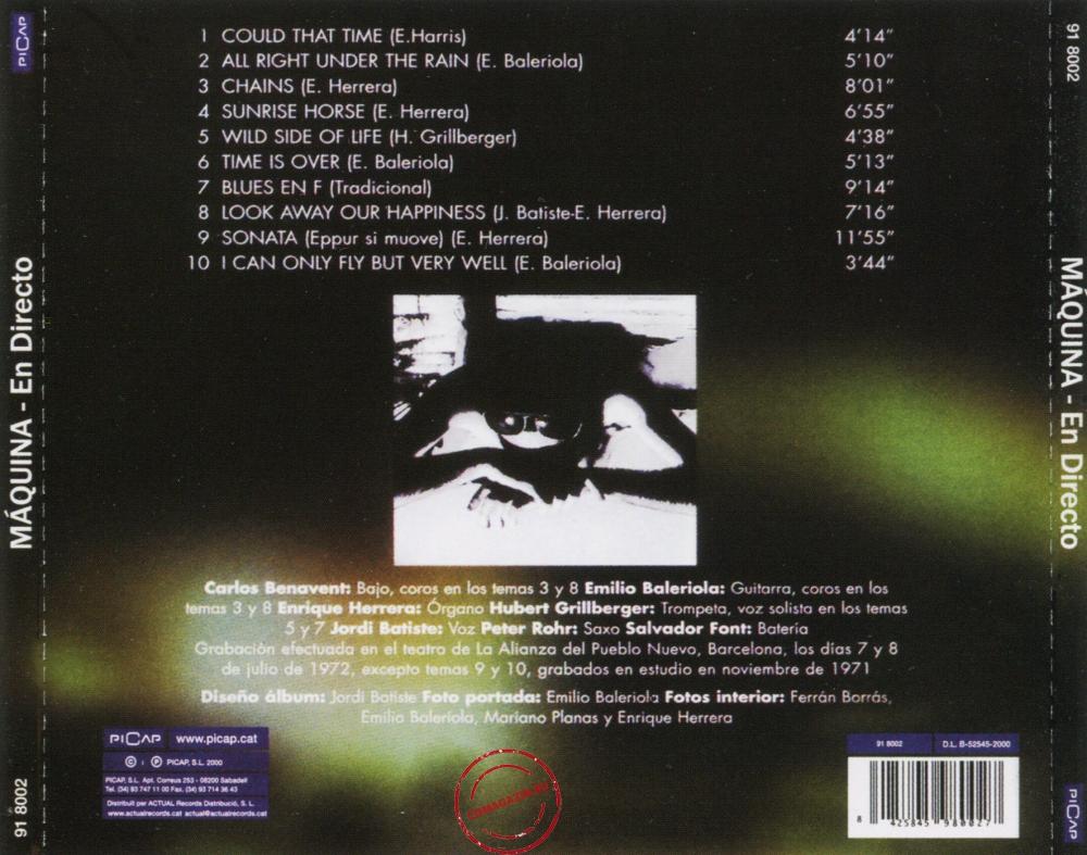 Audio CD: Maquina (1972) En Directo