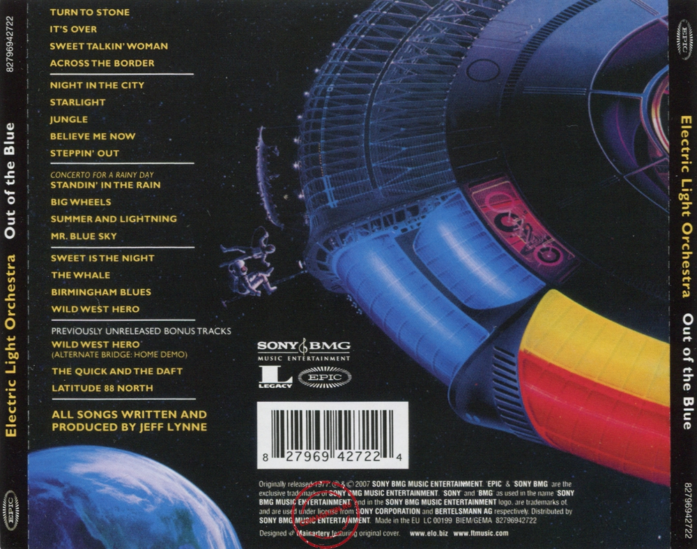 Audio CD: Electric Light Orchestra (1977) Out Of The Blue