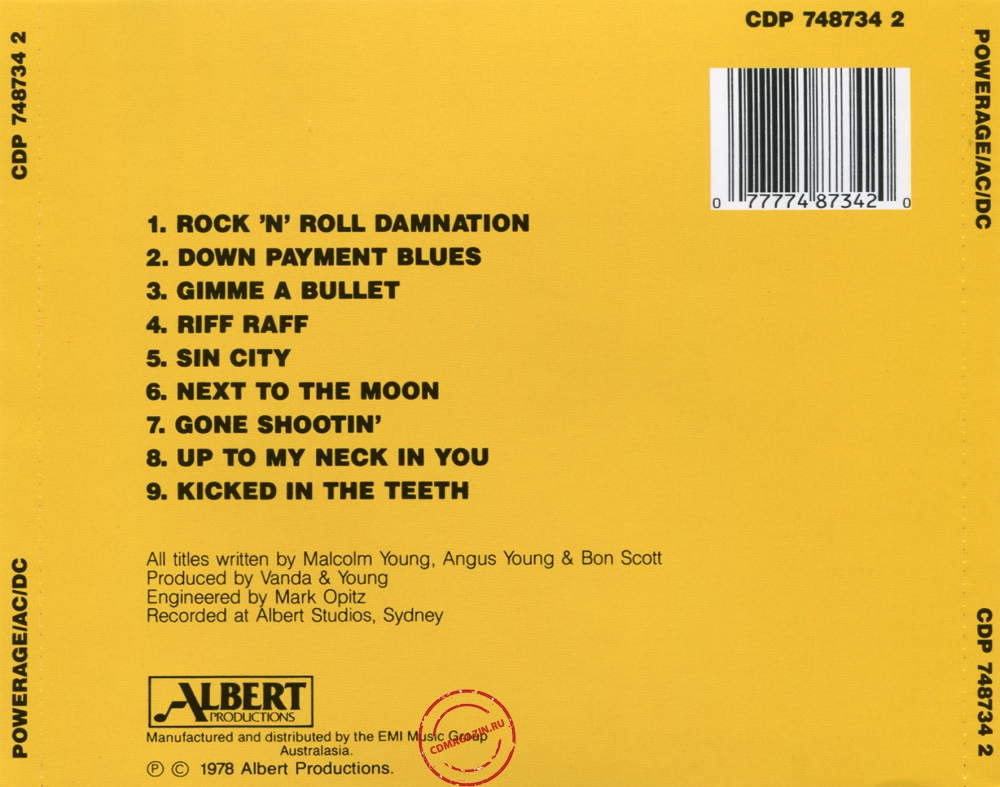Audio CD: AC/DC (1978) Powerage