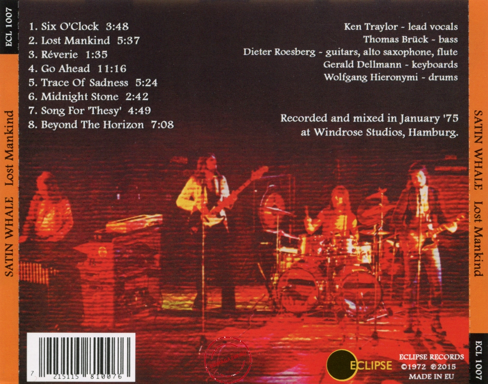 Audio CD: Satin Whale (1975) Lost Mankind