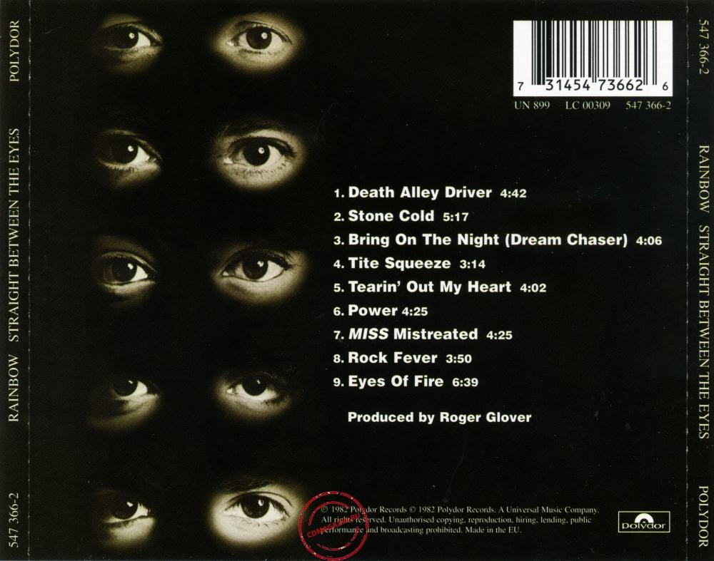 Audio CD: Rainbow (1982) Straight Between The Eyes