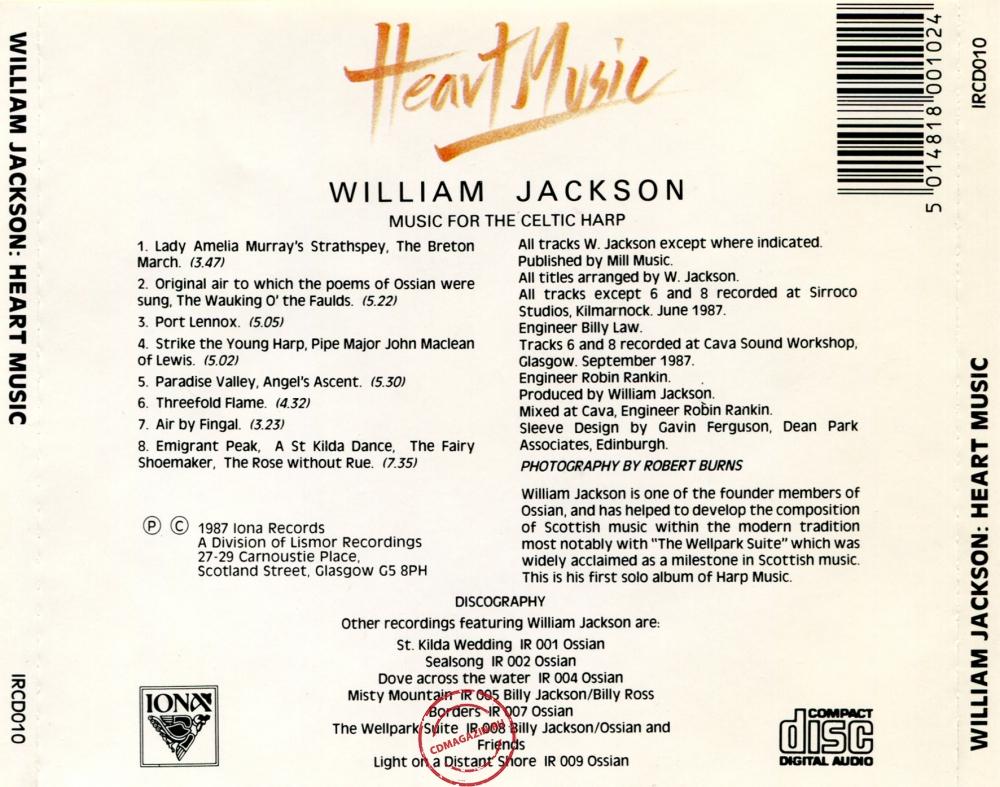 Audio CD: William Jackson (1987) Heart Music