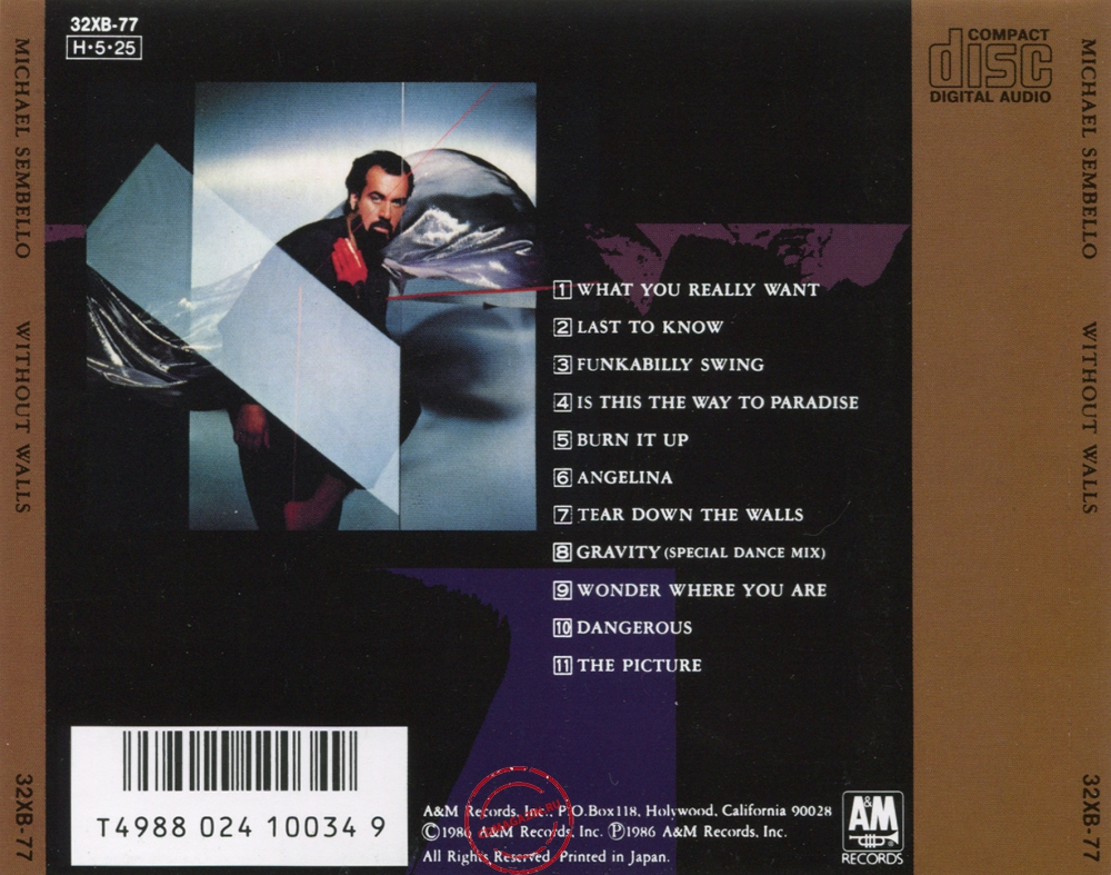 Audio CD: Michael Sembello (1986) Without Walls