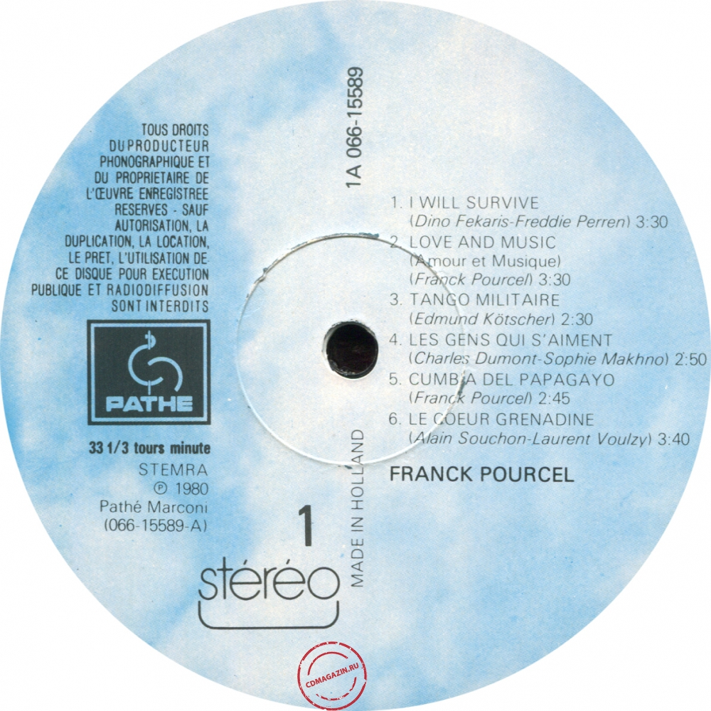 Оцифровка винила: Franck Pourcel (1980) Love And Music