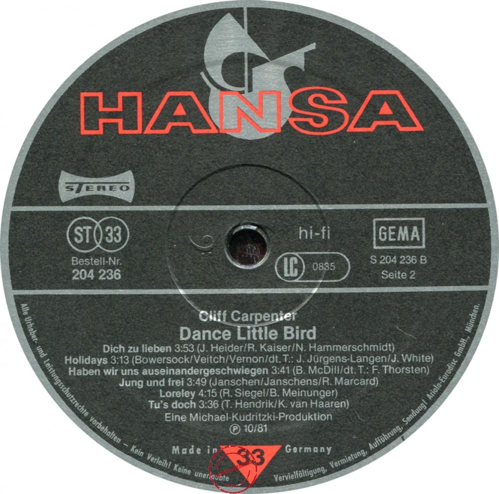 Оцифровка винила: Cliff Carpenter (1981) Dance Little Bird