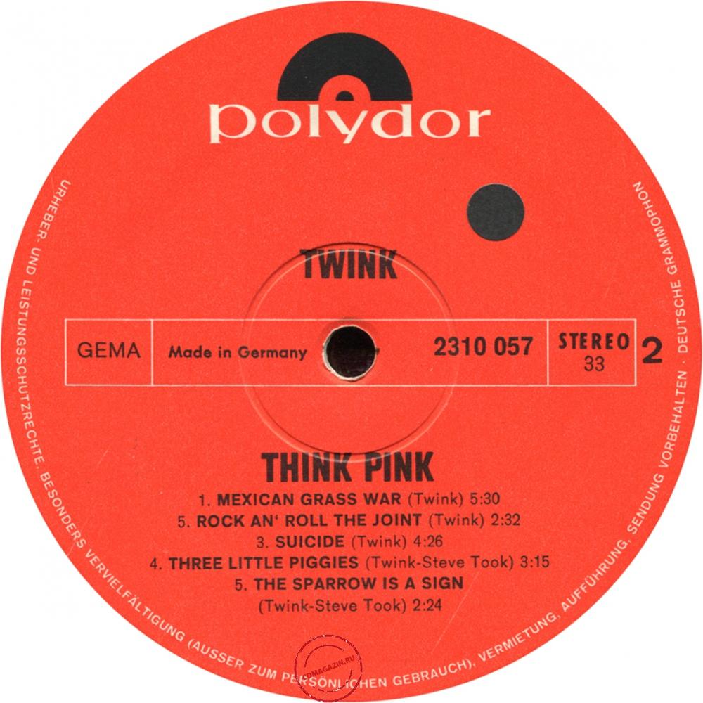 Оцифровка винила: Twink (1970) Think Pink