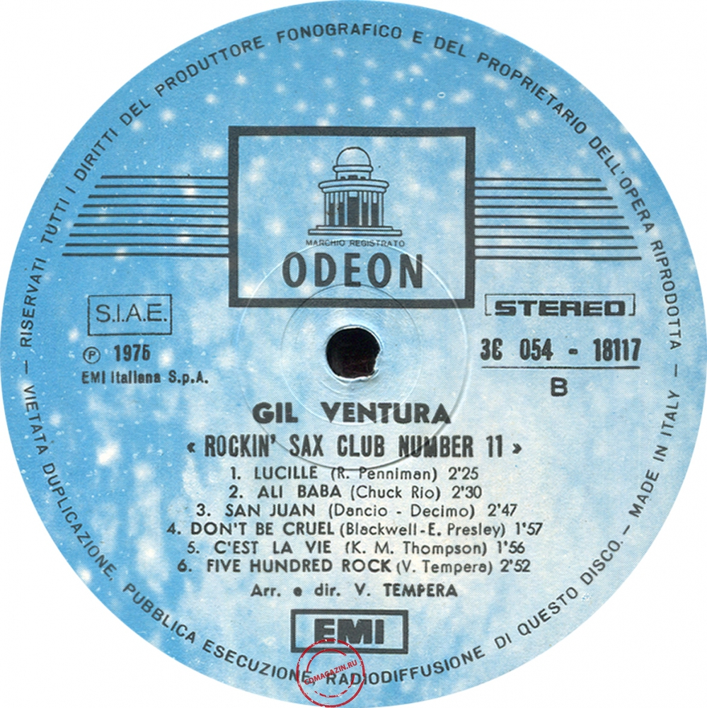 Оцифровка винила: Gil Ventura (1975) Sax Club Number 11 (Rockin')