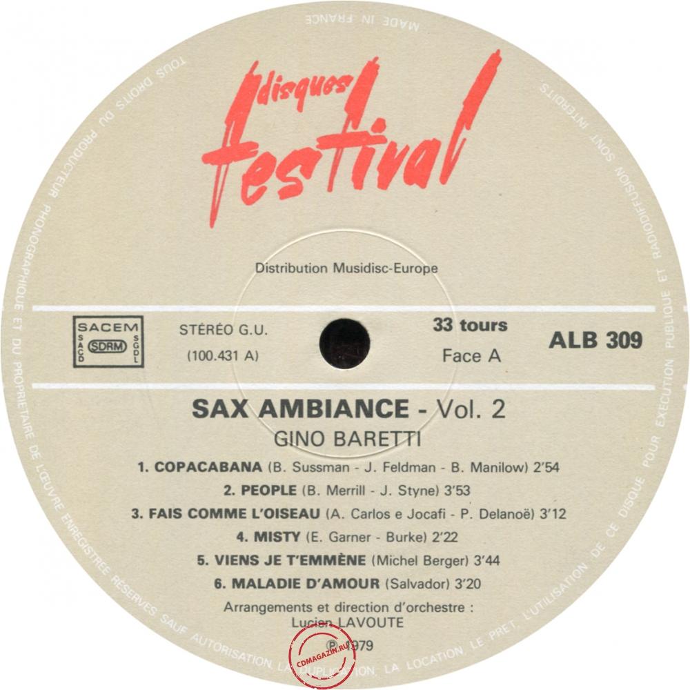 Оцифровка винила: Gino Baretti (1979) Sax Ambiance Vol 2