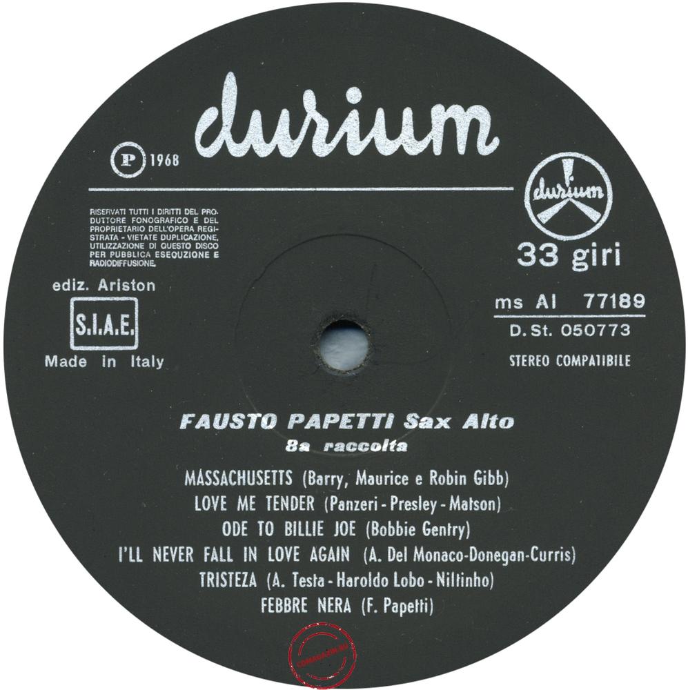 Оцифровка винила: Fausto Papetti (1968) 8a Raccolta