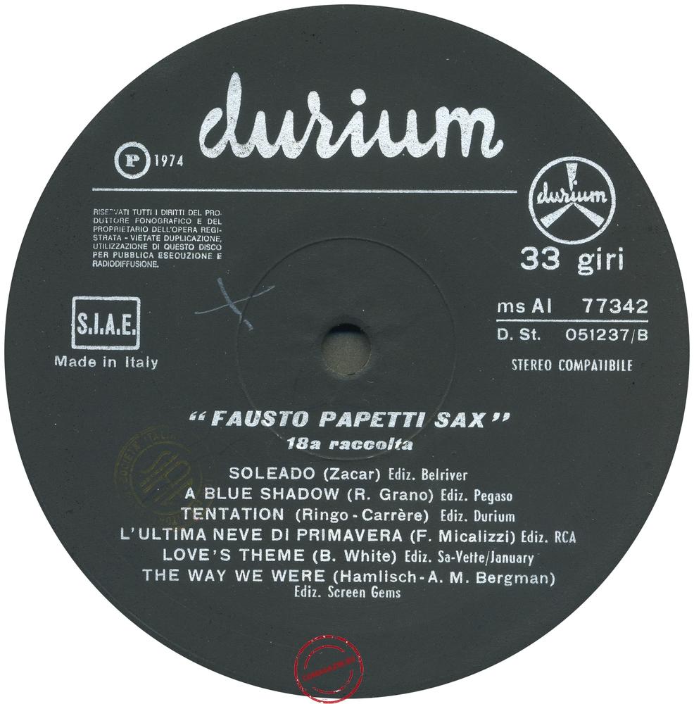 Оцифровка винила: Fausto Papetti (1974) 18a Raccolta