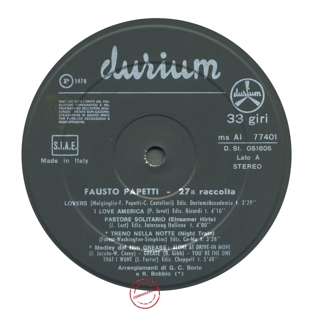 Оцифровка винила: Fausto Papetti (1978) 27a Raccolta