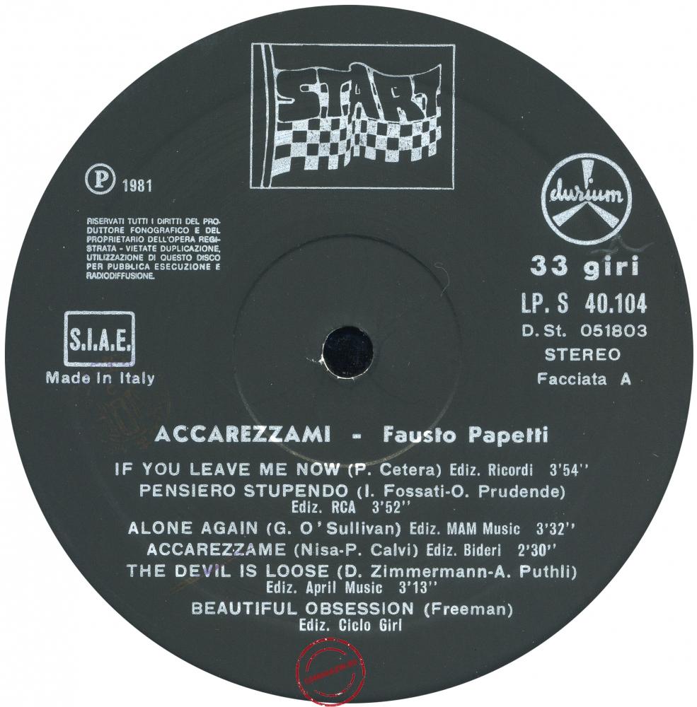 Оцифровка винила: Fausto Papetti (1981) Accarezzami
