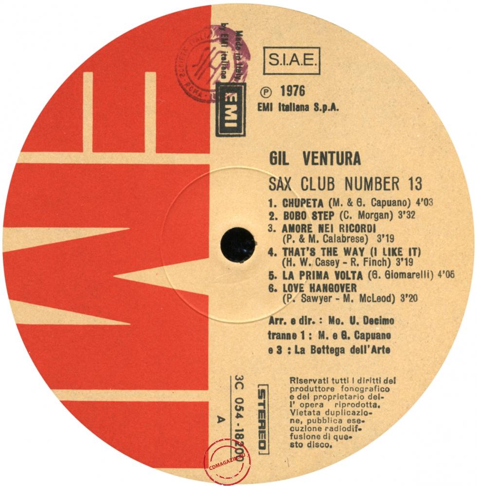 Оцифровка винила: Gil Ventura (1976) Sax Club Number 13