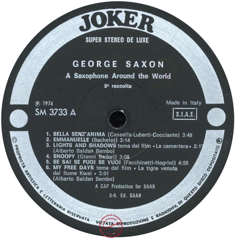 Оцифровка винила: George Saxon (1974) 8ª Raccolta