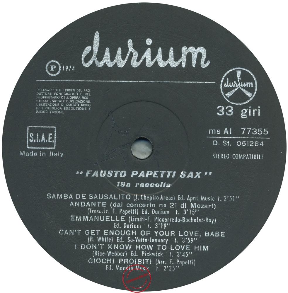 Оцифровка винила: Fausto Papetti (1974) 19a Raccolta