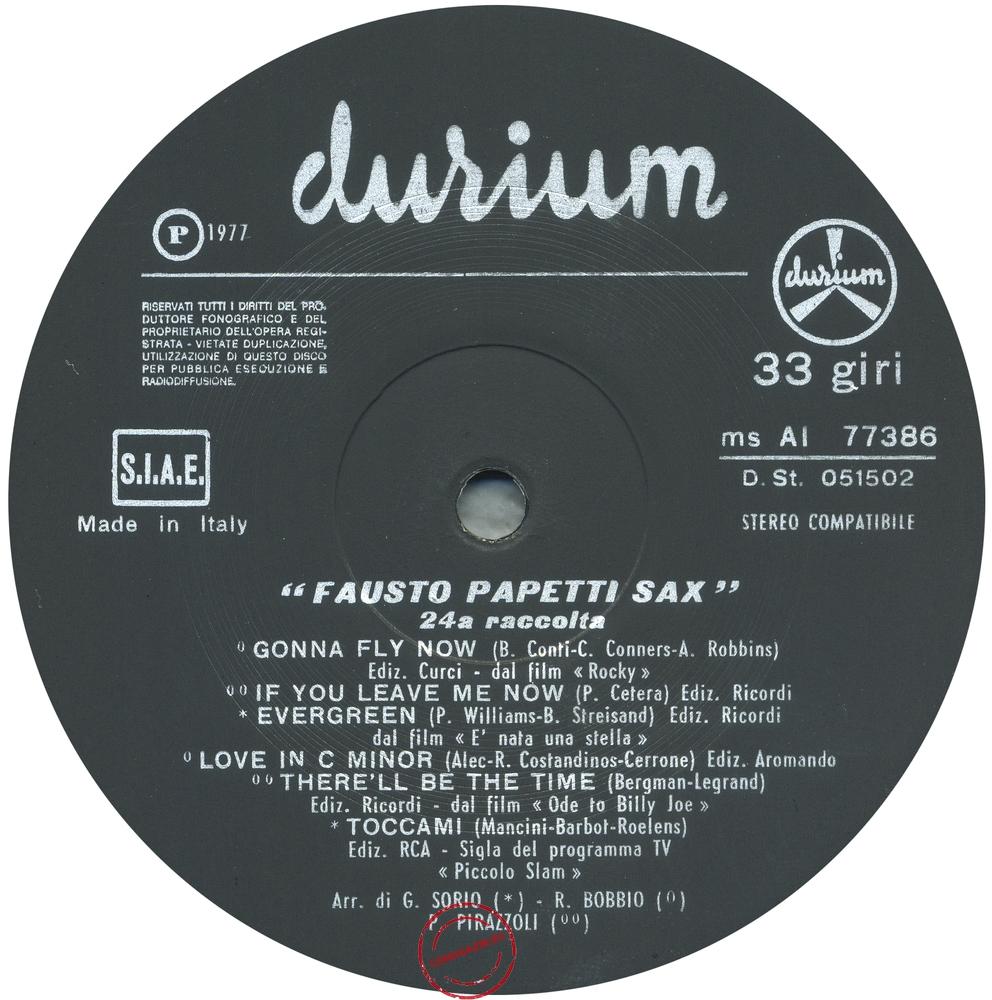 Оцифровка винила: Fausto Papetti (1977) 24a Raccolta