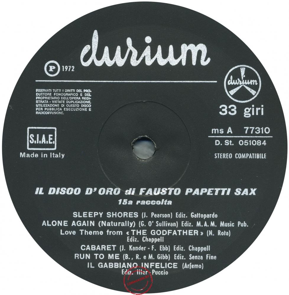 Оцифровка винила: Fausto Papetti (1972) 15a Raccolta