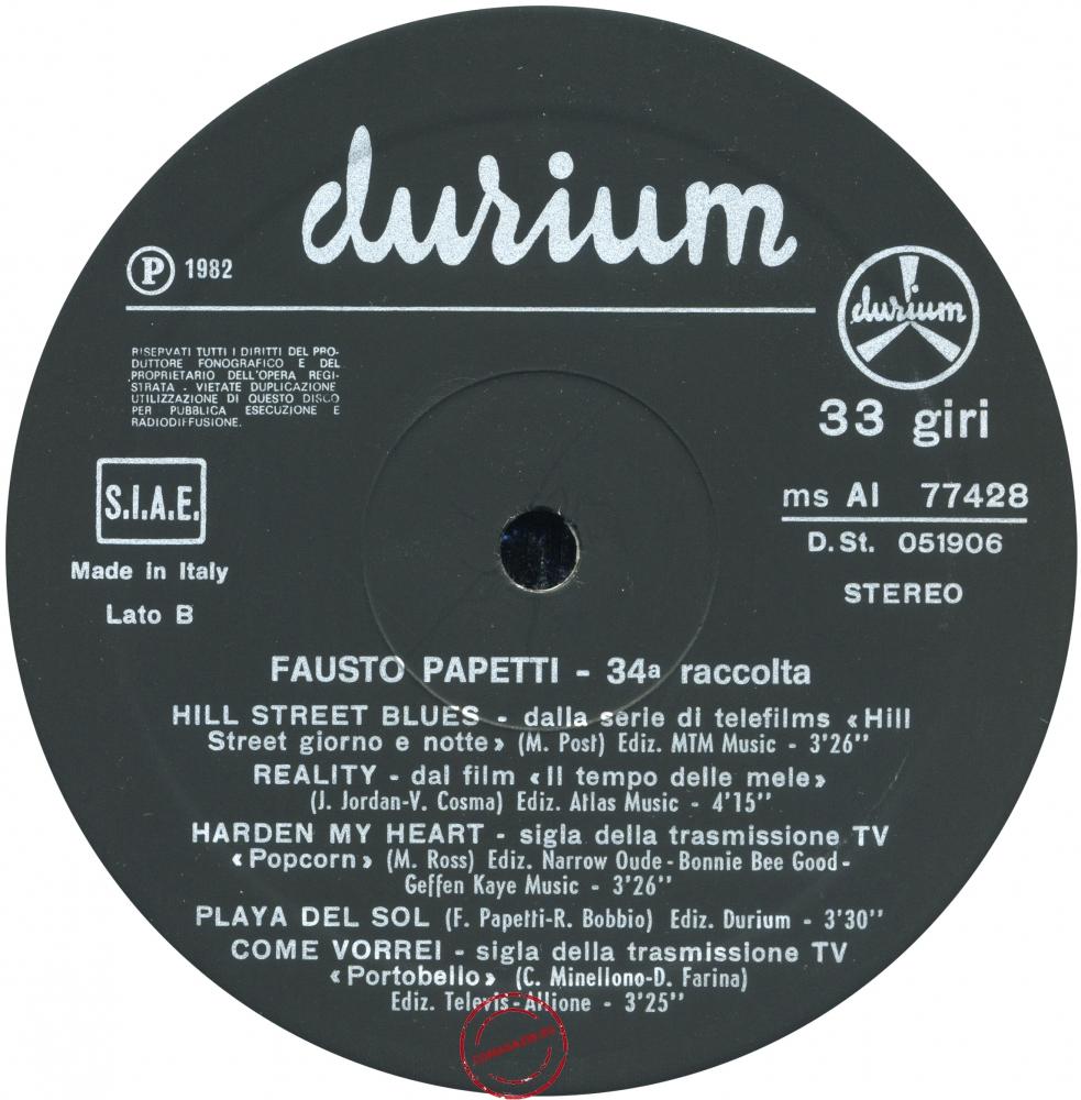 Оцифровка винила: Fausto Papetti (1982) 34a Raccolta