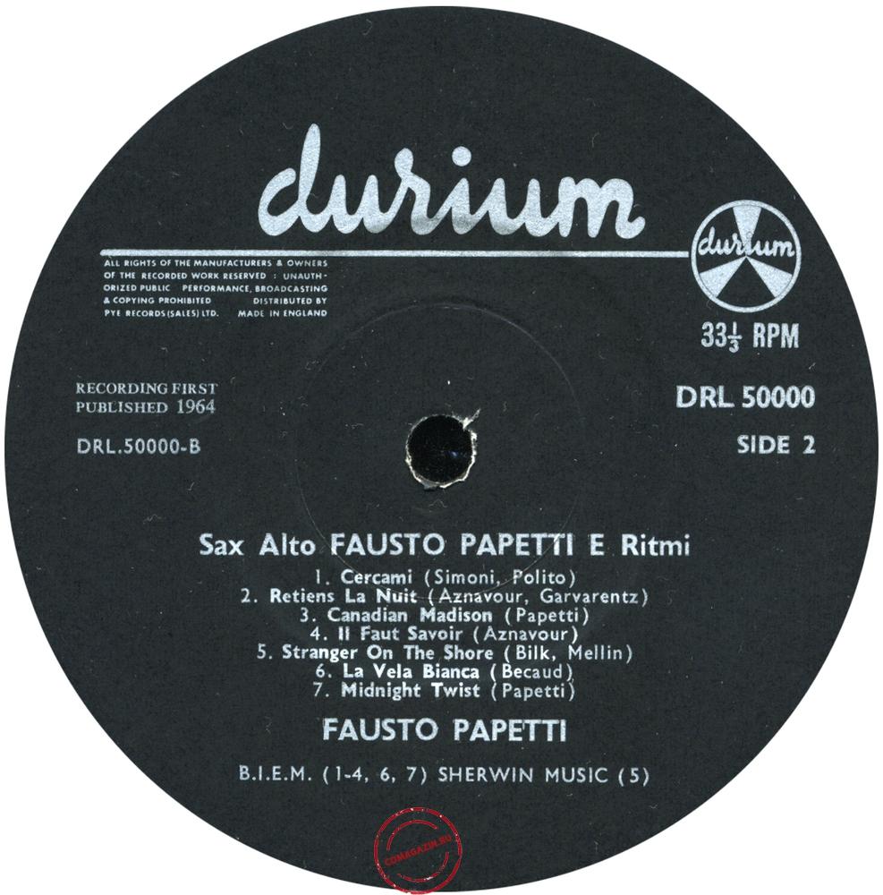 Оцифровка винила: Fausto Papetti (1962) 3a Raccolta