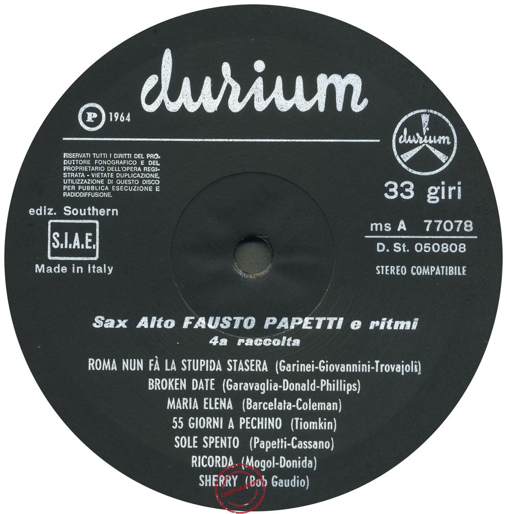 Оцифровка винила: Fausto Papetti (1964) 4a Raccolta