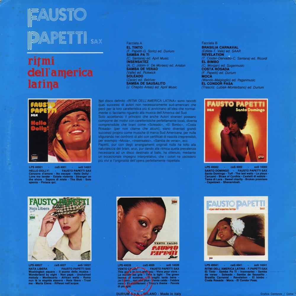 Оцифровка винила: Fausto Papetti (1978) Ritmi Dell'america Latina