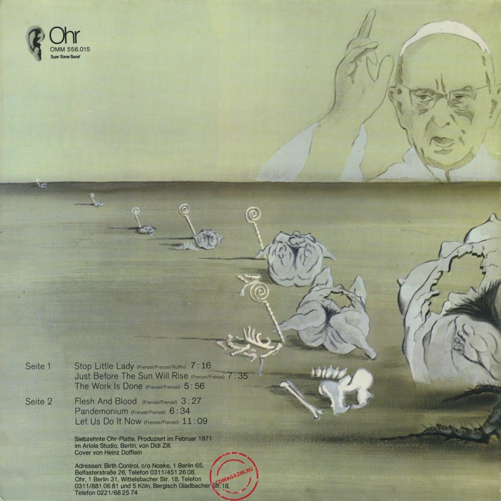 Оцифровка винила: Birth Control (1971) Operation