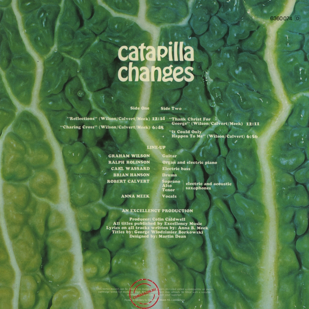 Оцифровка винила: Catapilla (1972) Changes