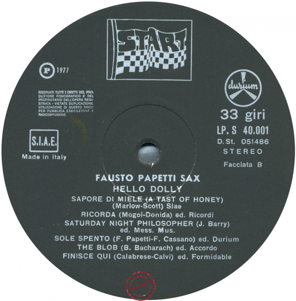 Оцифровка винила: Fausto Papetti (1977) Hello Dolly!