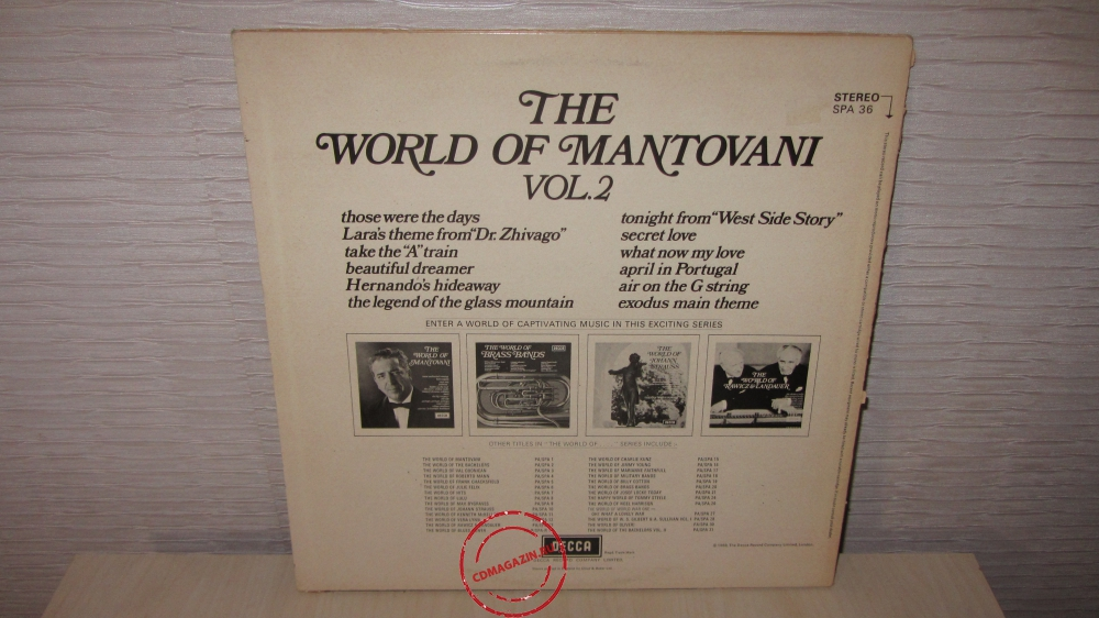 Оцифровка винила: Mantovani And His Orchestra (1969) The World Of Mantovani Vol. 2