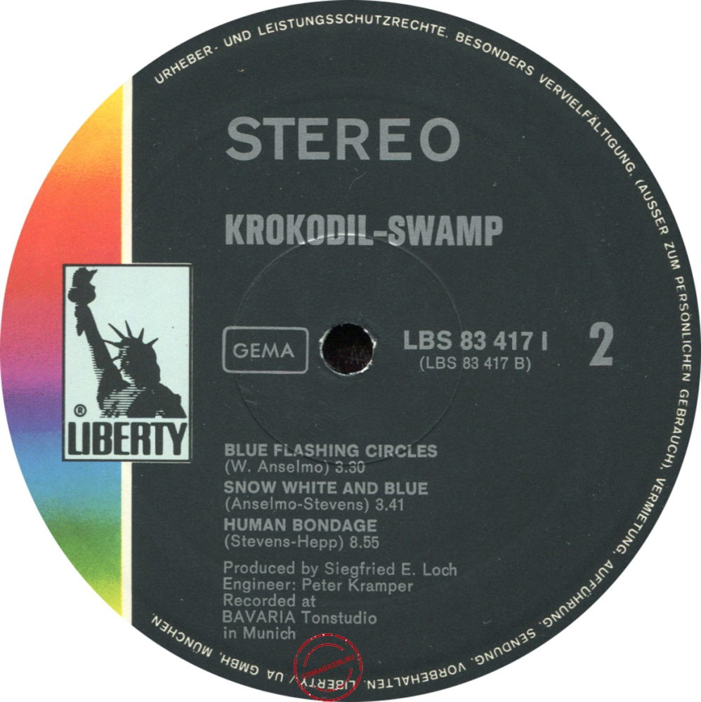 Оцифровка винила: Krokodil (1970) Swamp