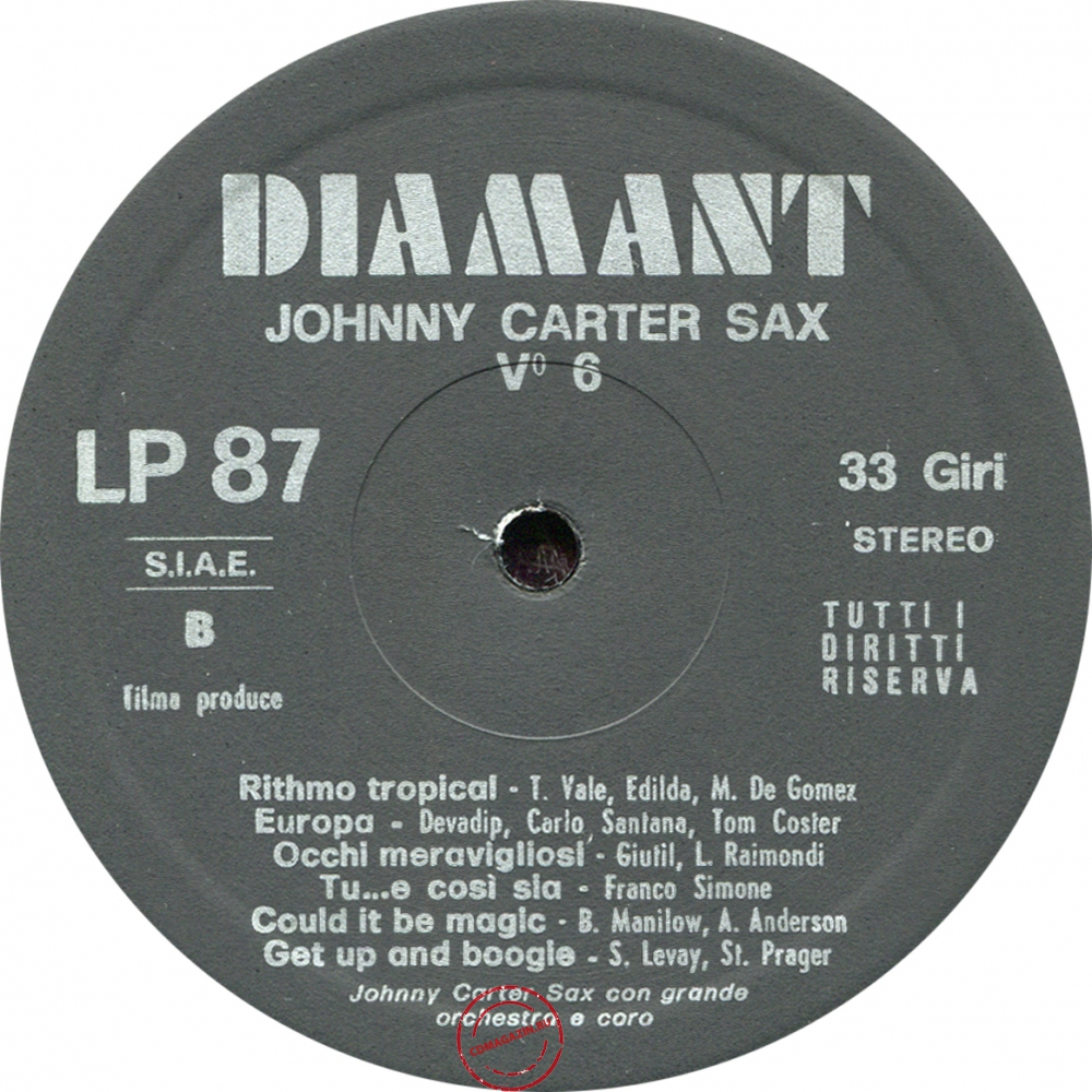 Оцифровка винила: Johnny Carter (1976) Johnny Carter Sax Vol. 6