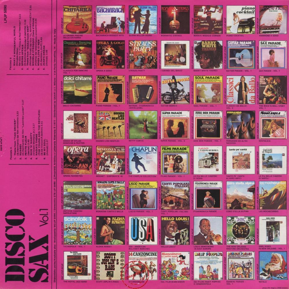Оцифровка винила: VA Disco Sax (1977) Vol. 1