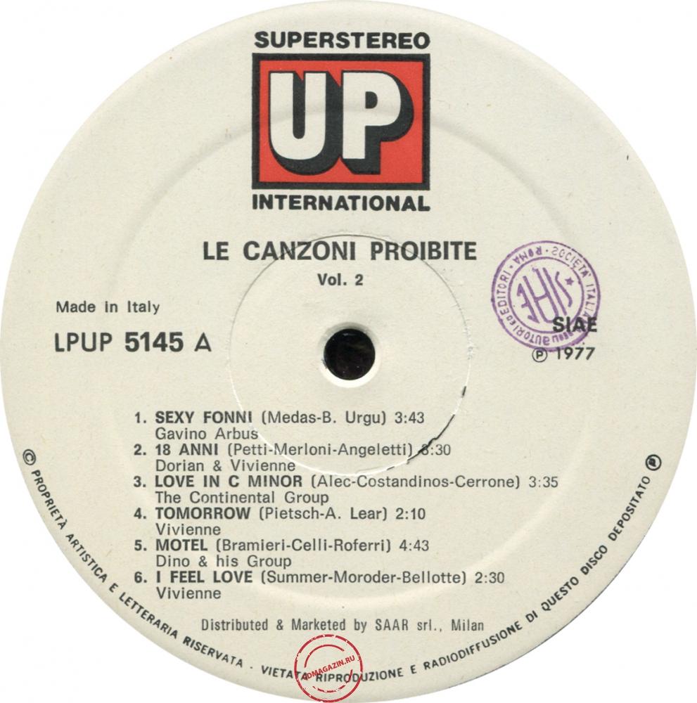 Оцифровка винила: VA Le Canzoni Proibite (1977) Vol. 2