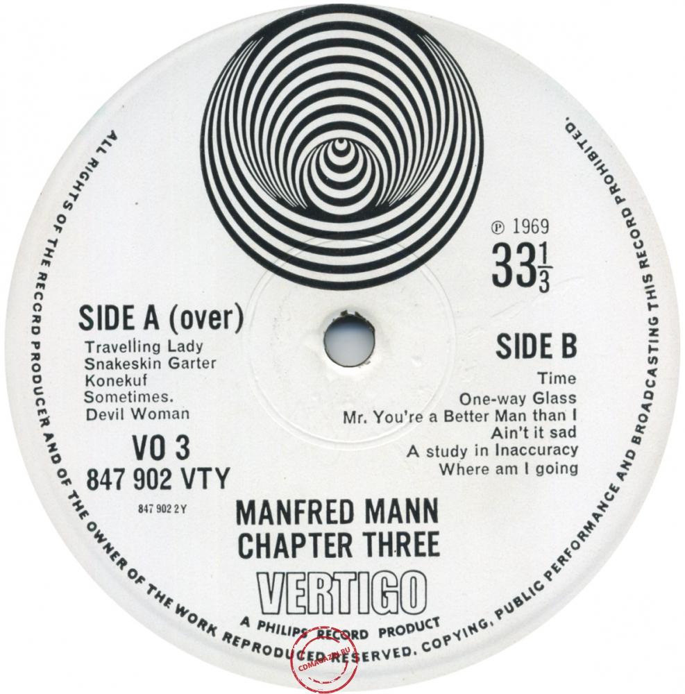 Оцифровка винила: Manfred Mann Chapter Three (1969) Manfred Mann Chapter Three