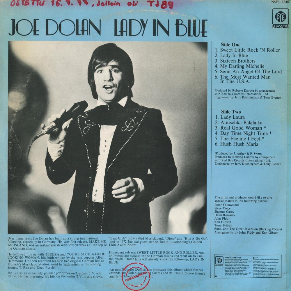 Оцифровка винила: Joe Dolan (1975) Lady In Blue