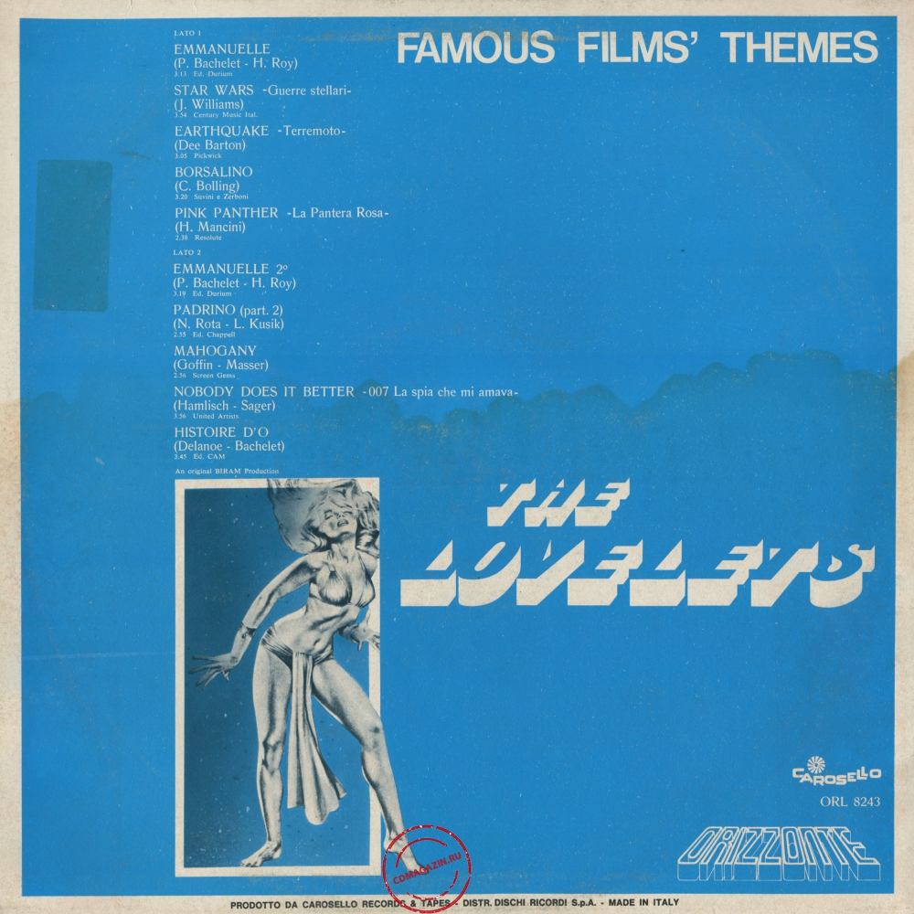 Оцифровка винила: Lovelets (1978) Famous Films' Themes