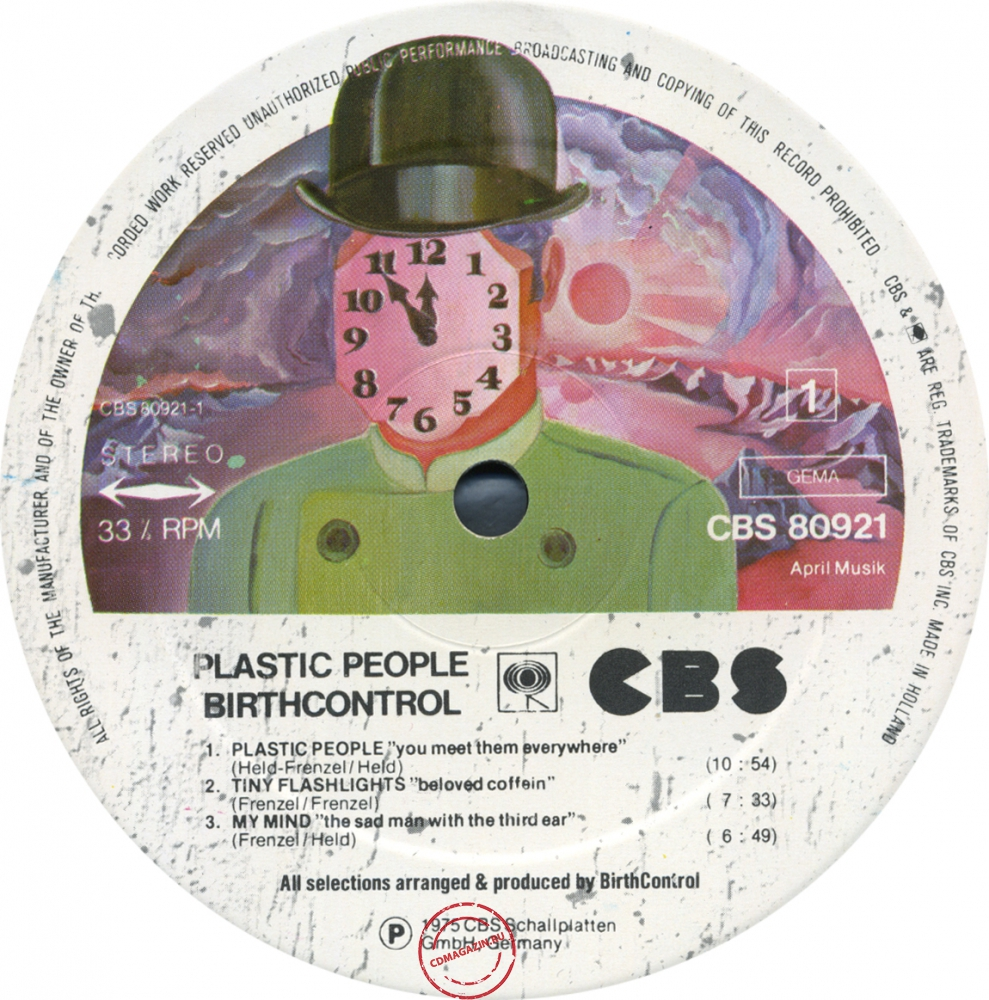 Оцифровка винила: Birth Control (1975) Plastic People