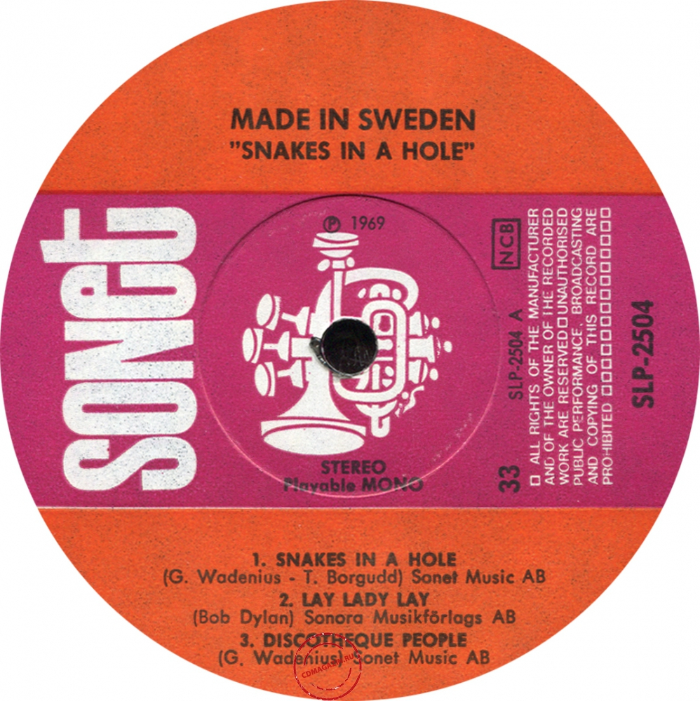 Оцифровка винила: Made In Sweden (1969) Snakes In A Hole