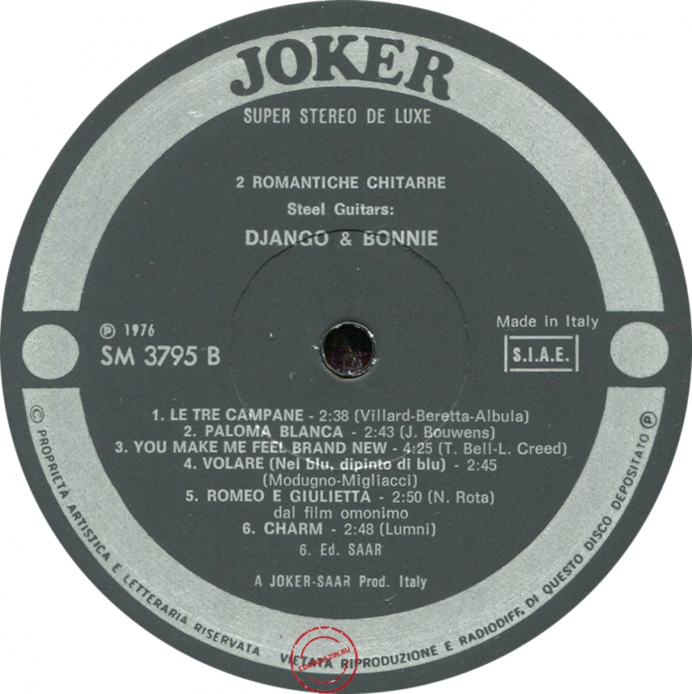 Оцифровка винила: Django & Bonnie (1976) 4ª Raccolta