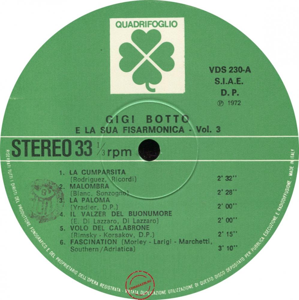 Оцифровка винила: Gigi Botto (1972) E La Sua Fisarmonica D'oro Vol. 3