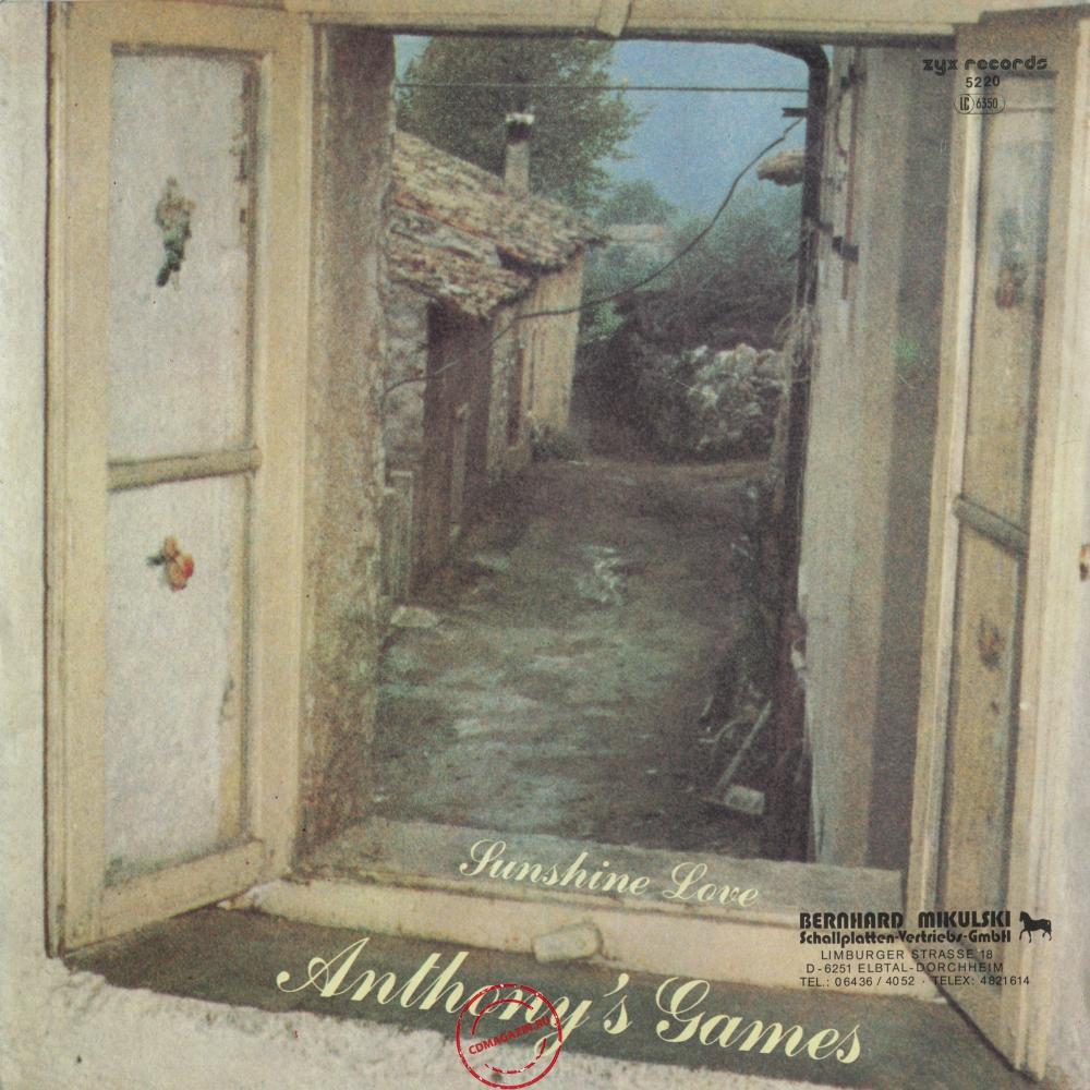 Оцифровка винила: Anthony's Games (1984) Sunshine Love